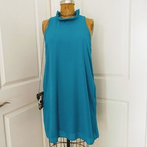 Gibson The Cavallo Ruffle Neck Dress Size Large